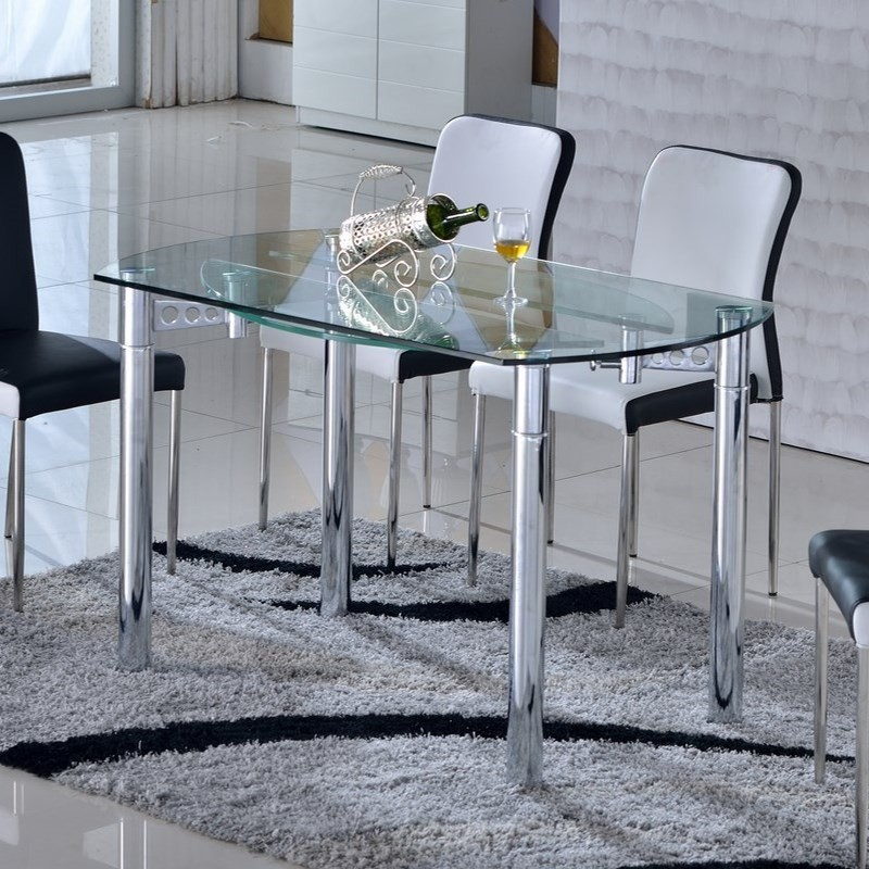 table de salle a manger en verre avec rallonge valdiz. Black Bedroom Furniture Sets. Home Design Ideas