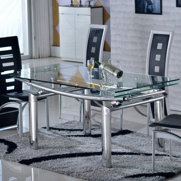 table carree en verre avec rallonge conceptions de. Black Bedroom Furniture Sets. Home Design Ideas