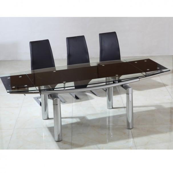 Salle manger moderne salle manger modernes - Table ronde en verre extensible ...
