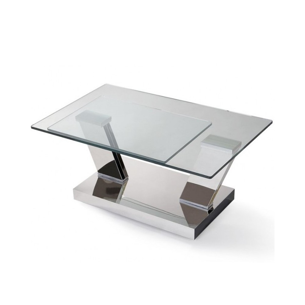 Table basse verre ovale articulee - Table ovale verre extensible ...