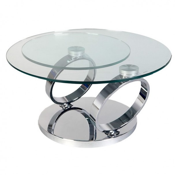 Quoi mettre sur une table basse de salon for Table de salon ronde en verre