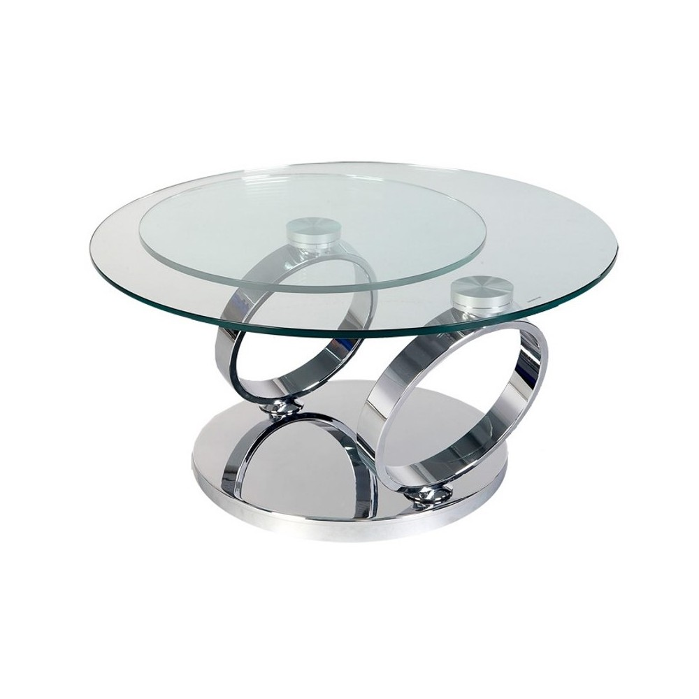 Table basse ronde en verre alinea - Table basse but en verre ...