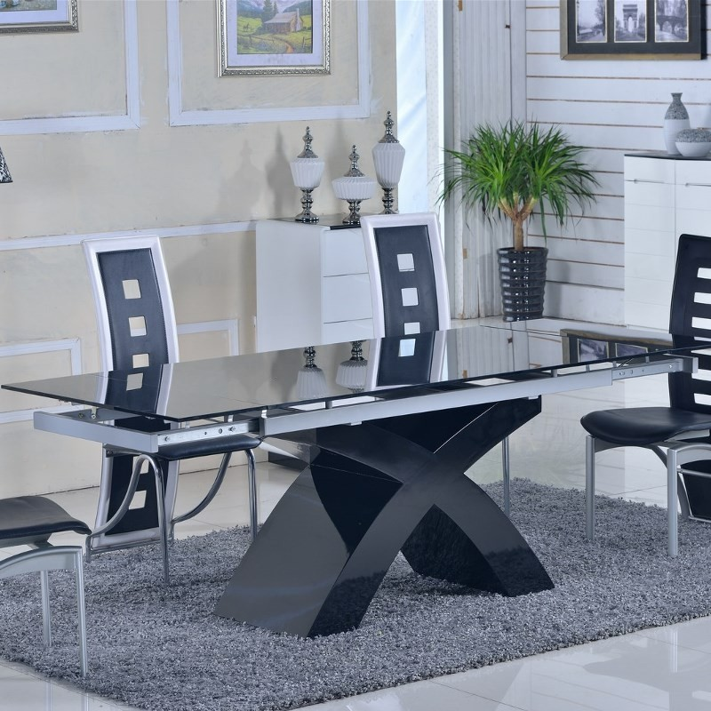 tables en verre avec rallonges. Black Bedroom Furniture Sets. Home Design Ideas