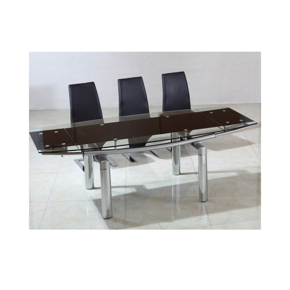 Table en verre extensible meilleures ventes boutique for Set de table verre