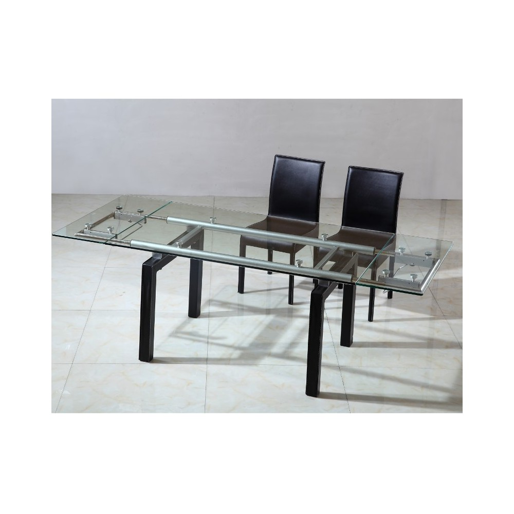 Table verre extensible conceptions de maison for Table ovale verre extensible