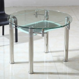 Tables en verre rallonges glob boutik - Table ronde verre extensible ...